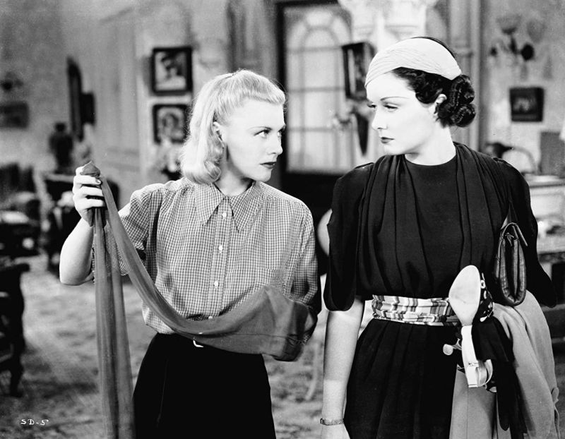 Ginger Rogers and Gail Patrick, Stage Door