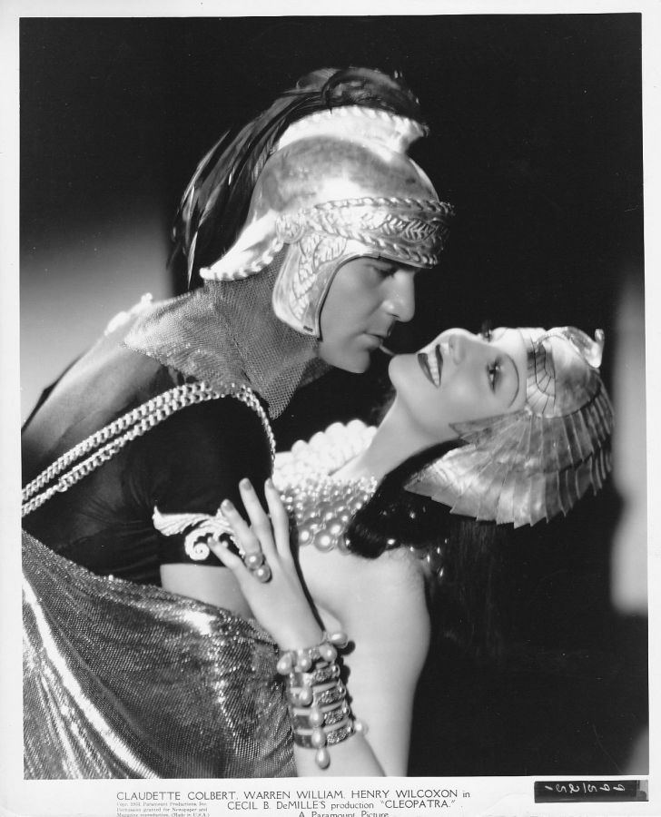 Henry Wilcoxon and Claudette Colbert, Cleopatra