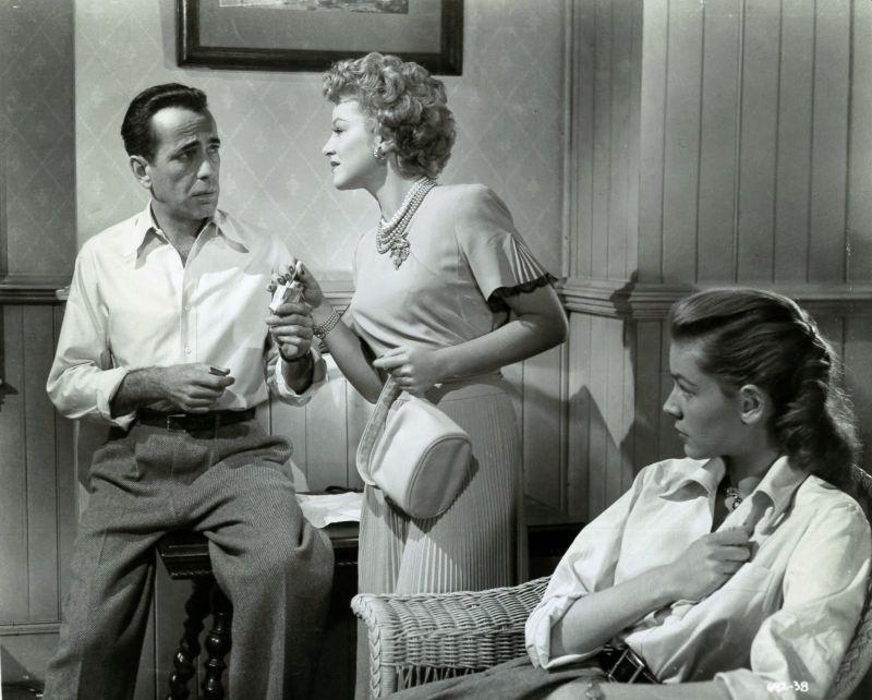 Humphrey Bogart, Claire Trevor, and Lauren Bacall in Key Largo