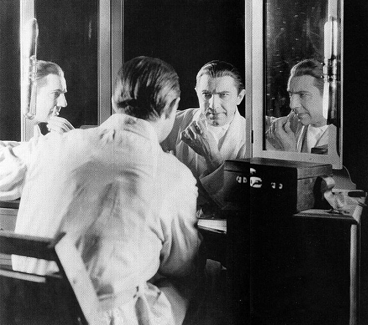 Behind the Scenes Photo of Bela Lugosi, Dracula