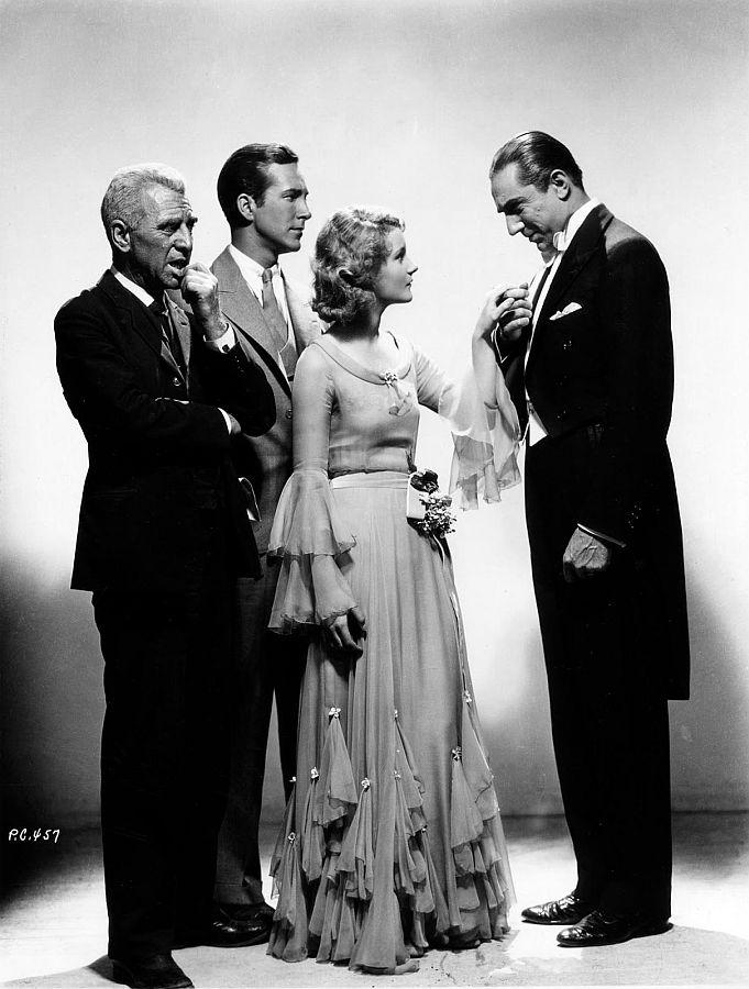 Edward Van Sloan, David Manners, Helen Chandler, and Bela Lugosi - Dracula (1931) Promotional Picture