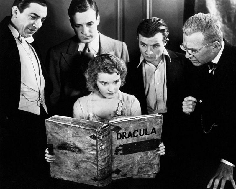 Dracula 1931 Promo Shot: Bela Lugosi, Helen Chandler, Dwight Frye, David Manners, Edward Van Sloan