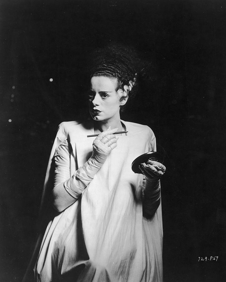 Elsa Lanchester Behind the Scenes of The Bride of Frankenstein