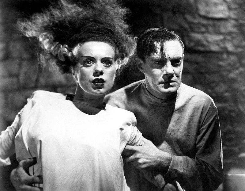 Elsa Lanchester and Colin Clive, The Bride of Frankenstein