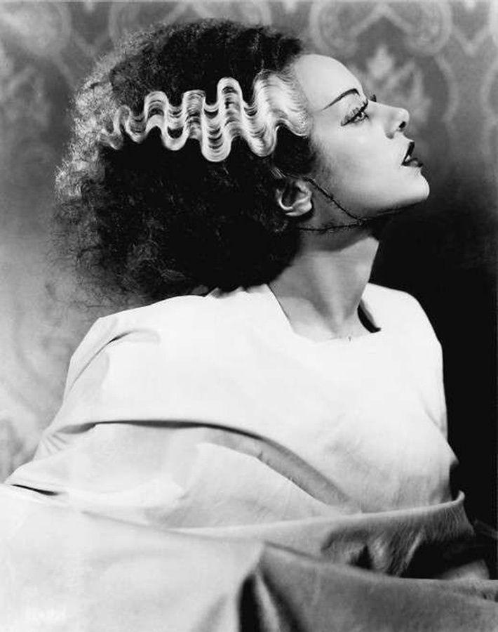 Elsa Lanchester in the title role in The Bride of Frankenstein