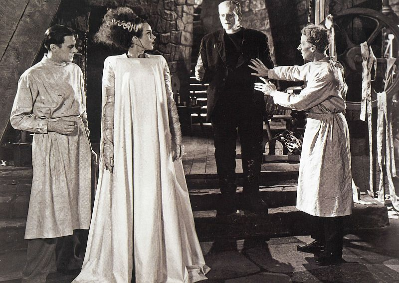 Collin Clive, Elsa Lanchester, Boris Karloff, and Ernest Thesiger: The Bride of Frankenstein